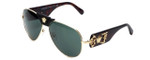 Versace 2150Q-100271 Designer Sunglasses in Tortoise & Gold with Grey Lens