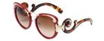 Prada Designer Sunglasses PR07TS-VAI1Z1 in Red/Tortoise & Gold & Amber Gradient Lens