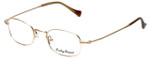 Lucky Brand Designer Eyeglasses Miles in Brushed Gold :: Custom Left & Right Lens