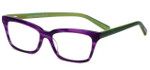 EyeBobs Designer Reading Glasses Meeooww! 2504 52 in Green & Violet