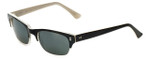 Reptile Designer Polarized Sunglasses Agamid in Black-Clear with Flash Mirror Lens