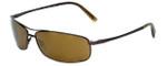 Reptile Designer Polarized Sunglasses King in Espresso with Gold Mirror Lens