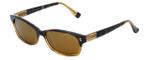 Reptile Designer Polarized Sunglasses Lacerta in Striped-Blonde with Gold Mirror Lens