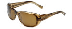 Reptile Designer Polarized Sunglasses Medusa in Striped-Blonde with Amber Lens