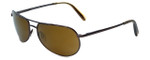 Reptile Designer Polarized Sunglasses Sipedon in Espresso with Gold Mirror Lens