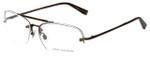 John Varvatos Designer Eyeglasses V102 in Brown 60mm :: Progressive