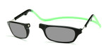 Clic Compact Sunreaders in Black Frame with Green Headband