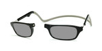 Clic Compact Sunreaders in Black Frame with Grey Headband