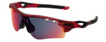 Oakley Designer Sunglasses Radarlock OO9206-35 in Urban Jungle Red and Red Iridium