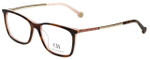 Carolina Herrera Designer Eyeglasses VHE722K-06YD in Brown-Horn 53mm :: Rx Single Vision