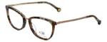 Carolina Herrera Designer Eyeglasses VHE094K-0323 in Brown-Pattern 52mm :: Rx Bi-Focal