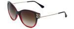 Versace VE4316B-507513 Designer Sunglasses in Black-Red with Gradient Brown Lens