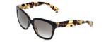 Prada Designer Sunglasses PR07PS-NAI0A7 in Black & Grey Gradient Lens
