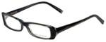 John Varvatos Designer Eyeglasses V303 in Black-Horn 52mm :: Rx Single Vision