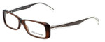 Dolce & Gabbana Designer Eyeglasses DG3142-2542 in Transparent-Brown 53mm :: Custom Left & Right Lens