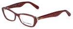 Dolce & Gabbana Designer Eyeglasses DG3168-2739 in Glitter-Bordeaux 51mm :: Custom Left & Right Lens