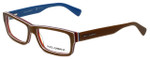 Dolce & Gabbana Designer Eyeglasses DG3180-2767 in Brown 54mm :: Custom Left & Right Lens