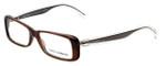 Dolce & Gabbana Designer Eyeglasses DG3142-2542 in Transparent-Brown 53mm :: Rx Bi-Focal