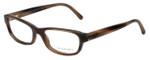 Burberry Designer Eyeglasses B2096-3226 in Striped Horn 53mm :: Progressive