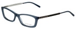 Burberry Designer Eyeglasses B2129-3013 in Transparent Blue 53mm :: Progressive