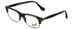 Persol Designer Eyeglasses PO3033V-996 in Matte Green Horn 50mm :: Custom Left & Right Lens