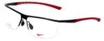 Nike Designer Eyeglasses NK6060-001 in Satin Black Gym Red 58mm :: Rx Single Vision