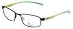 Nike Flexon Designer Eyeglasses NK4255-011 in Satin Black Turbo Green 52mm :: Rx Bi-Focal