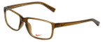Nike Designer Reading Glasses NK7095-200 in Brown Walnut 54mm
