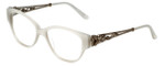 Judith Leiber Designer Eyeglasses JL3010-00 in Opal 52mm :: Progressive