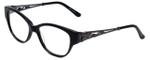 Judith Leiber Designer Eyeglasses JL3010-01 in Onyx 52mm :: Rx Bi-Focal