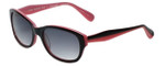 Betsey Johnson Designer Sunglasses Betseyville BV104-11 in Black-Pink with Grey-Gradient Lens