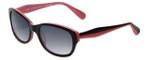 Betsey Johnson Designer Sunglasses Betseyville BV104-11 in Black-Pink with Grey-Gradient Lens