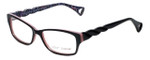 Betsey Johnson Designer Eyeglasses Wildcat BJ0183-01 in Black-Pink 54mm :: Rx Single Vision