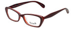 Betsey Johnson Designer Eyeglasses Betseyville BV100-06 in Cherry 53mm :: Rx Single Vision