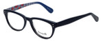 Betsey Johnson Designer Eyeglasses Betseyville BV114-05 in Rose-Blue 52mm :: Rx Single Vision