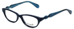Betsey Johnson Designer Eyeglasses Betseyville BV115-05 in Fishnet-Blue 51mm :: Rx Single Vision