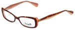 Betsey Johnson Designer Eyeglasses Betseyville BV105-02 in Espresso 52mm :: Rx Bi-Focal