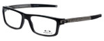 Oakley Designer Eyeglasses Currency OX8026-0554 in Black 54mm :: Progressive