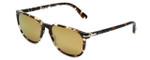 Persol Designer Sunglasses PO3019S-985W4 in Tabaco & Gold Mirror Lens