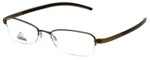 Adidas Designer Eyeglasses a674-40-6060 in Olive 52mm :: Custom Left & Right Lens