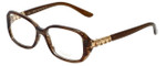 Chopard Designer Reading Glasses VCH155S-0794 in Brown-Striped 53mm