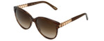 Chopard Designer Sunglasses SCH150S-0794 in Brown-Striped with Brown-Gradient Lens