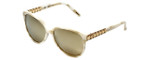 Chopard Designer Sunglasses SCH150S-9P9G in Pearl with Gold Lens