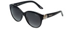 Chopard Designer Sunglasses SCH185S-0700 in Black with Grey-Gradient Lens