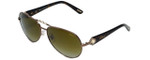 Chopard Designer Sunglasses SCH997S-R80P in Brown with Amber-Gradient Lens