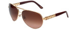 Chopard Designer Sunglasses SCHA63S-0624 in Gold with Rose-Gradient Lens