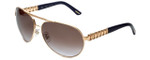 Chopard Designer Sunglasses SCHA63S-624X in Gold with Amber-Gradient Lens