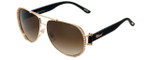 Chopard Designer Sunglasses SCHA66S-08FC in Gold with Brown-Gradient Lens