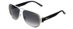 Chopard Designer Sunglasses SCHA66S-0579 in Silver with Grey-Gradient Lens
