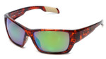 Native Designer Sunglasses Ward in Maple Tortoise with N3 Green Reflex Lens